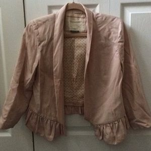 Anthropologie Ruffle Bottom Blazer